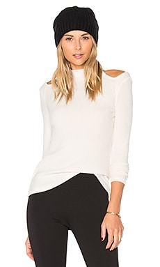 December Mock Neck Top in Cream