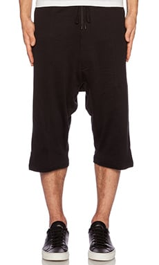 Public School Basic Elongated Short in Black