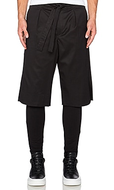 Public School Long Short in Black
