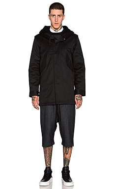 Public School Canvas Parka in Black