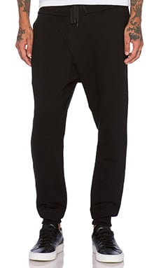 Public School Asymmetrical Sweatpant in Black