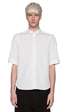 Public School Recessed Sleeve Shirt in White