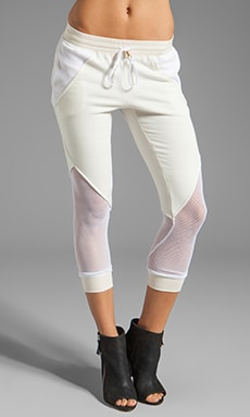 Pencey Standard French Terry Fencing Pant in White