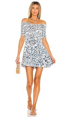 Soledad Off Shoulder Mini Dress Poupette St Barth $340