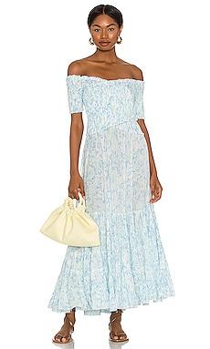 Soledad Off Shoulder Midi Dress Poupette St Barth $280