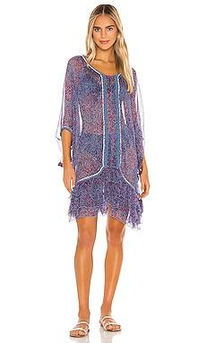 Bety Ruffled Poncho Dress Poupette St Barth $490