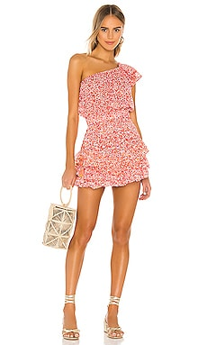 Kaia Ruffled Mini Dress Poupette St Barth $380