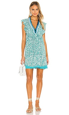 Sasha Lace Trimmed Mini Dress Poupette St Barth $320 BEST SELLER