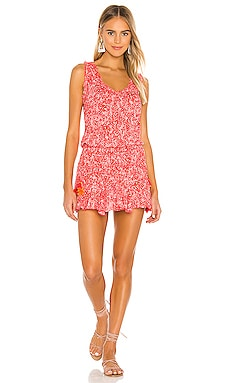 Soledad Tassel Trimmed Mini Dress Poupette St Barth $320
