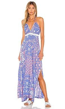 Ollie Flounce Long Dress Poupette St Barth $271
