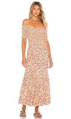 Soledad Off Shoulder Dress Poupette St Barth $339