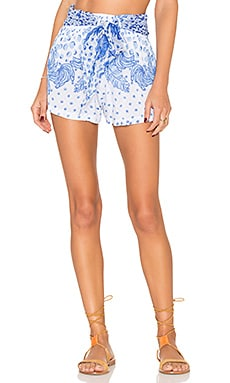 Coco Short in White Blue Banana