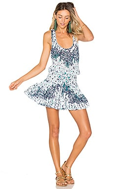 Kila Mini Dress in White Navy Galaxy