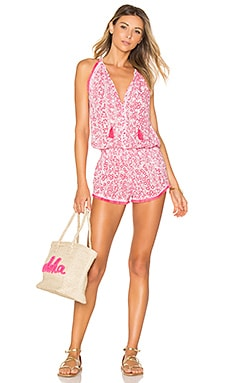 Lola Romper in Pink Button