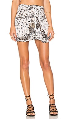 Kila Mini Skirt in White Black Galaxy