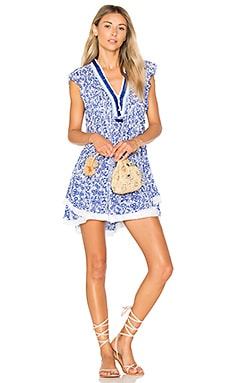Sasha Mini Dress in Blue Button