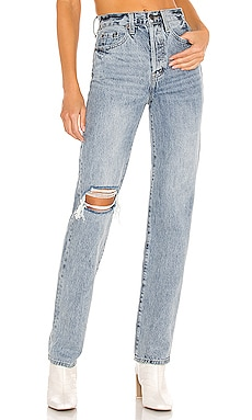 Cassie Super High Rise Straight PISTOLA $128