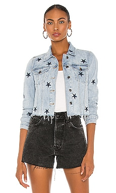 Brando Navy Star Denim Jacket PISTOLA $108 NEW