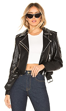 Tracy Cropped Moto Jacket PISTOLA $139
