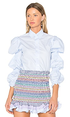 Ophelia Top in Blue Mini Stripe