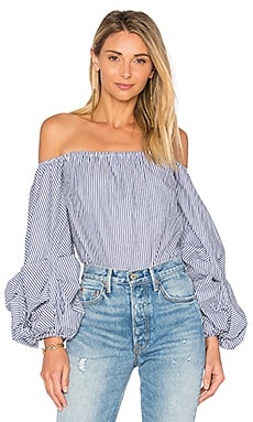 Hannah Top in Navy Stripe