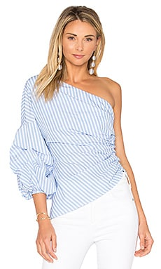 Tilly Top in Cornflower Stripe