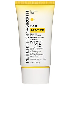 Max Matte Broad Spectrum SPF 45 UVA/UVB Protective Dry Cream Peter Thomas Roth $34