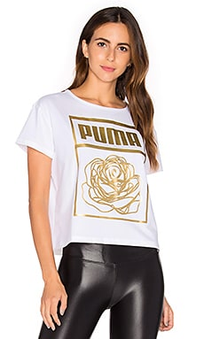 Puma x CAREAUX Logo Tee in Puma White