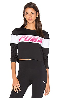 Speed Font Long Sleeve Top in Puma Black