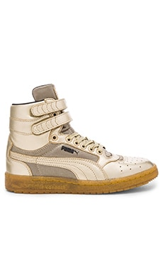 Puma Sportstyle Sky II Hi Metallic Hi-Top Sneaker in Metallic Gold
