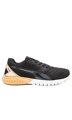 Puma Ignite Dual Sneaker in Puma Black & Gold