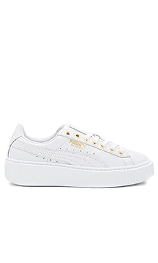Basket Pearlized Platform in in Puma White