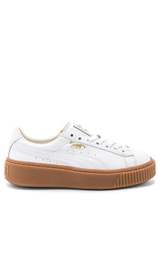 Basket Core Platform in Puma White
