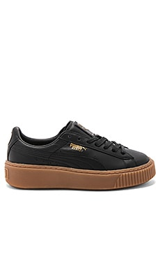 Basket Core Platform in Puma Black