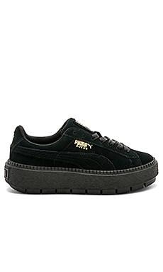 Suede Platform Rugged Sneaker
