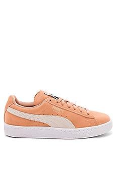Фото - Кроссовки suede classic - Puma оранжевого цвета