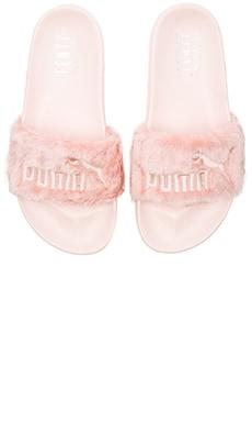 Puma x Rihanna Leadcat Fenty Sandal in Shell & Puma Silver