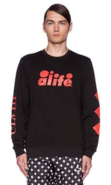 Puma Select x A-Life ARC Crew Sweat in Black