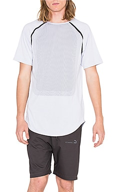 Puma Select x STAMPD Raglan Sleeve Tee in White