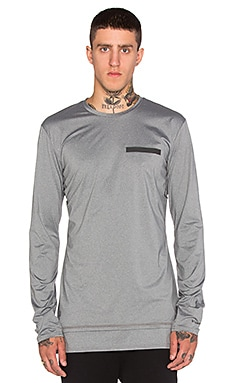 Puma Select x Stampd Long Sleeve Tee in Medium Grey Heather