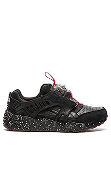Puma Select x Trapstar Disc in Black High Risk Red