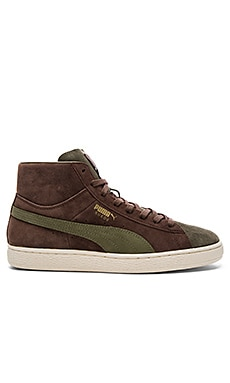 Puma Select x Bobbito Suede Mid Sneaker in Chestnut Burnt & Olive Gold
