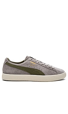 Puma Select x Bobbito Clyde Sneaker in Drizzle Burnt & Olive Gold