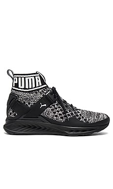 Ignite Evoknit in Puma Black & Quiet Shade & Puma Black