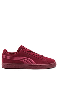 Suede Classic Badge in Cabernet