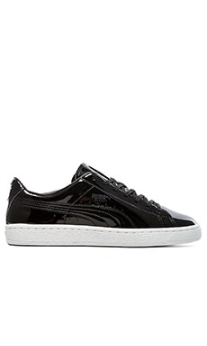 Puma Select Basket Patent in Black White