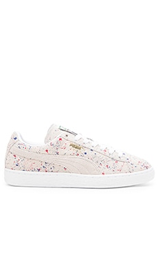 Puma Select Suede Classic Allover Splatter White in White