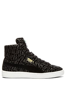 Puma Select x Alife Suede Mid Stuck Up in Black White