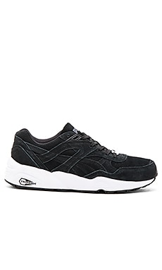 Puma Select R698 Allover Suede in Black White Black