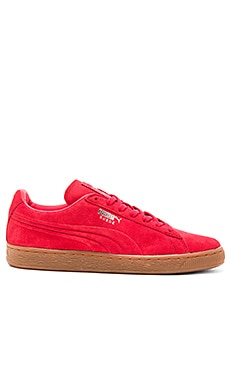 Puma Select Suede Emboss in High Risk Red Gum